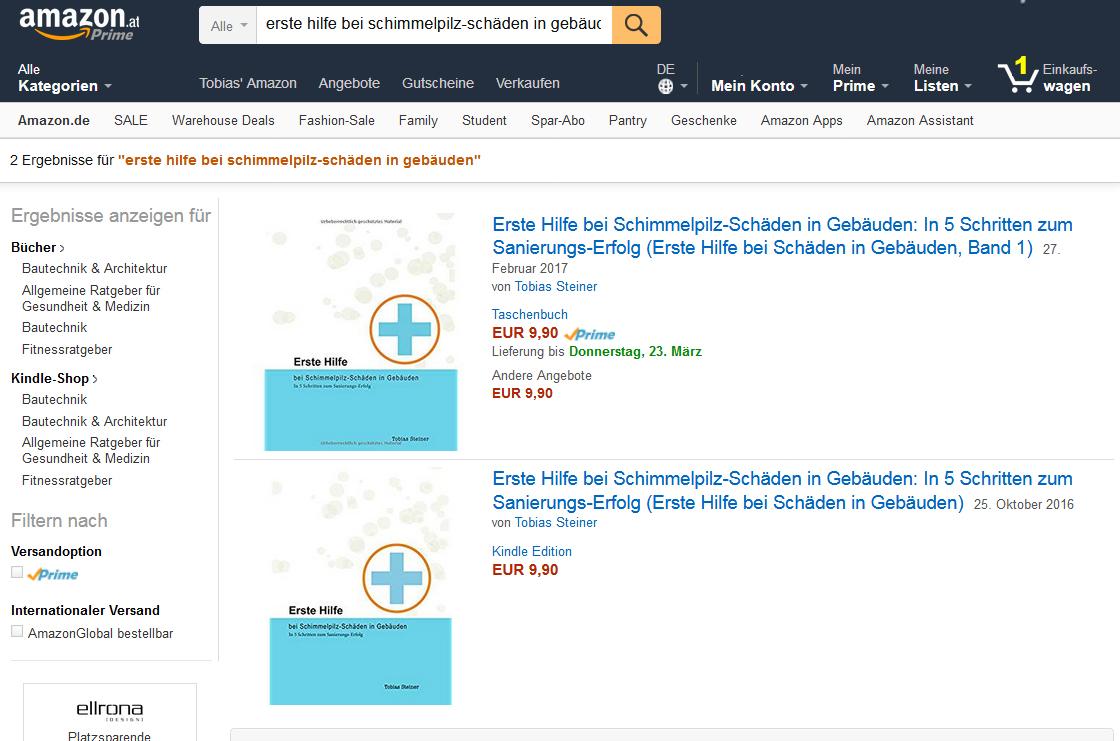 ebook und Taschenbuch bequem per amazon bestellen